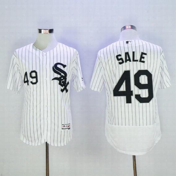 White Sox 72# Fisk #45 Michael Jordan White Stripe Baseball Jerseys High Quality Stitched Baseball Shirts Sports Jerseys Athletic Jerseys