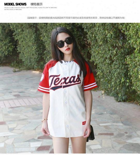Wholesale-2016 New Summer Hip Hop Sports Fashion Baseball T Shirt Korean Style Loose Unisex Mens Womens Tee Tops Tide Mujeres Camiseta