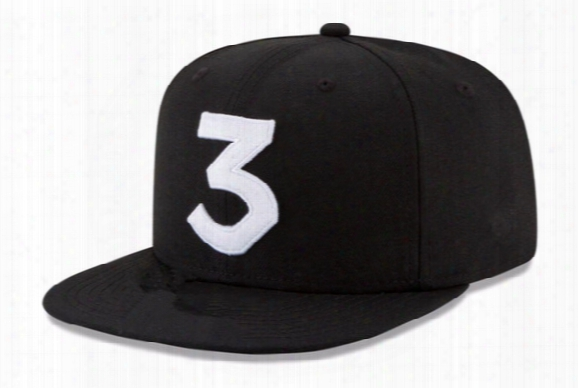 Wholesale- 2016 Popular Chance The Rapper 3 Hat Cap Black Letter Embroidery Baseball Cap Hip Hop Streetwear Skateboard Snapback Sun Hats