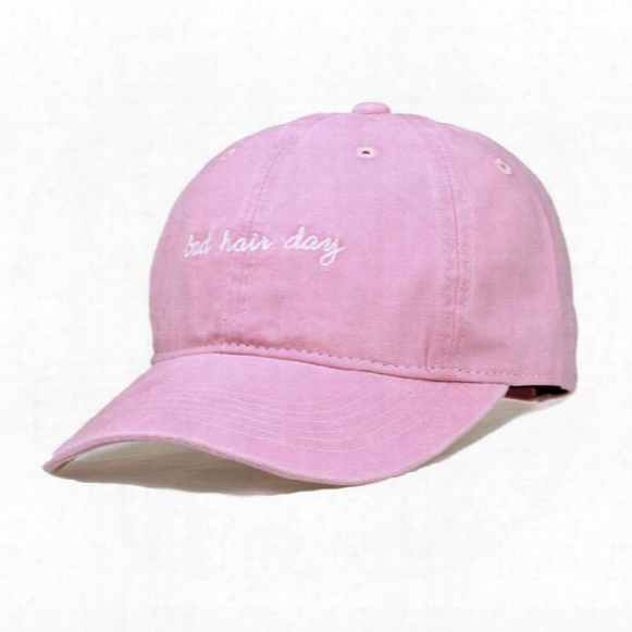 Wholesale- Fairy Season Summer Bad Hair Day Baseball Cap For Men Or Women Fshion Brief Style Snapback Bone Hats Pink Grey Blue Hat