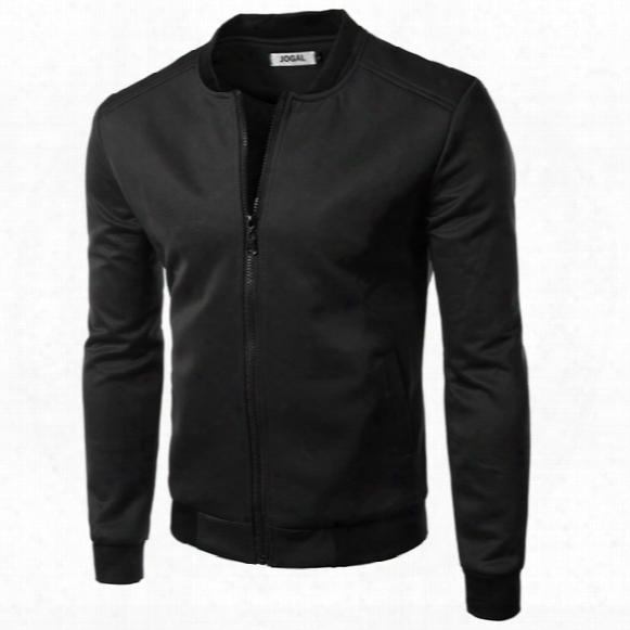 Wholesale- New Bomber Jacket Men 2015 British Fashion Design Mens Slim Fit College Baseball Jacket Brand Varsity Jacket Sweatshirt Homme