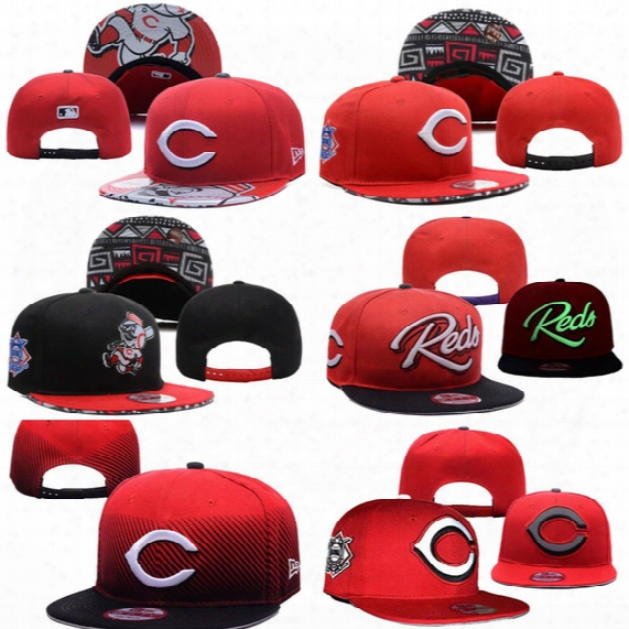 Wholesales Cincinnati Reds Baseball Cap Embroidered Team Logo Fitted Cap Sport Fit Hats Colorfull Free Shipping