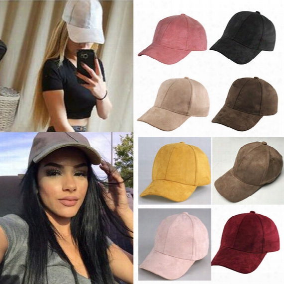 Women Men Baseball Caps Hats Hip-hop Snapback Flat Hats New Suede Candy Color Sun Protective Basketball Hats Cap Gifts 9 Colors Hh-h04