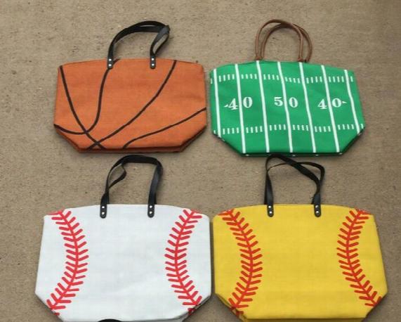 Women's Handbag Canvas Bag Baseball Tote Bags Sports Bags Casual Tote Softball Bag Football Soccer Basketball Bag Free Shipping