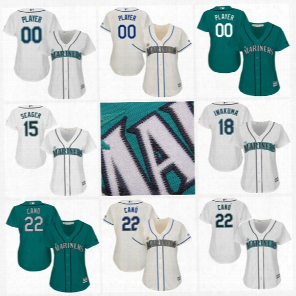 Womens Seattle Mariners Custom Jersey 1 Jarrod Dyson 2 Jean Segura 3 Mike Zunino 5 Guillermo Heredia 6 Mike Freeman Custom Baseball Jerseys