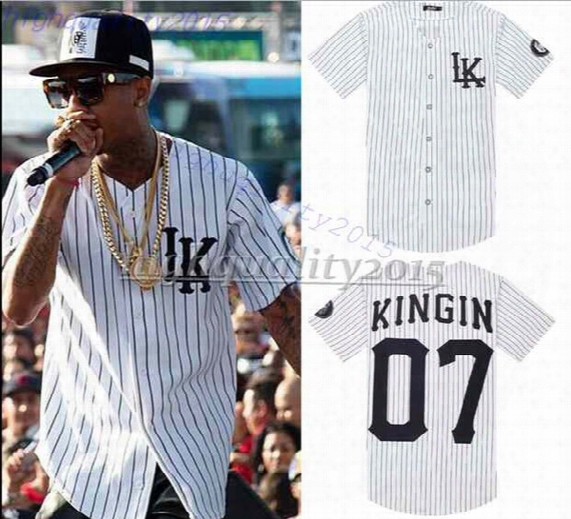 07 Last Kings Baseball T Shirt Tyga Jerseys Black White Unsex Men Women Hip Hop Style Tees Tops Rap Rock T-shirts 2015 New