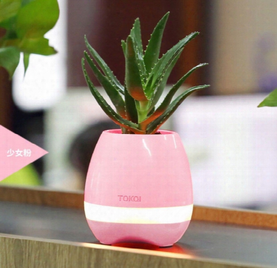 10pcs Hot Sale Bluetooth Speakers Systems Flowers Plants-pots Multi-colors Smart Bluetooth Music Speakers System