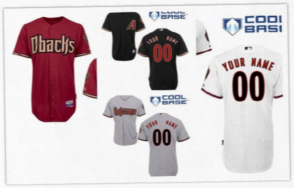 2015 New Arizona Diamon Dbacks Personalized Home Jersey Customized Baseball Jersey Top Quality Mix Order Freeshipping