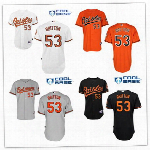 2016 Baltimore Orioles Baseball Jerseys #53 Zach Britton #8 Cal Ripken #13 Manny Machado Cool Base Player Jersey High Quality Free Shipping