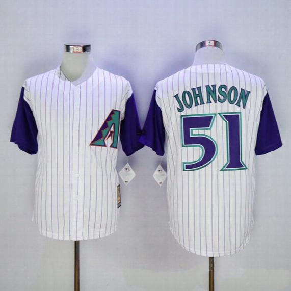 2016 Majestic Randy Johnson Jersey, Arizona Diamondbacks Jersey 51 Randy Johnson Baseball Jersey Free Shipping
