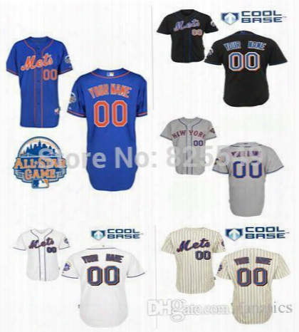 2016 New Custom New York Mets Baseball Jersey Customized Personalized Stitched Jerseys Men'sl Women's Kids Youth White Grey Beige