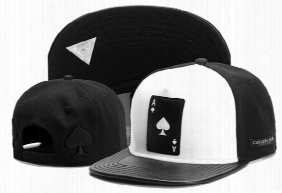 2016 New Poker A Snapback Cap Baseball Hat Sports Hip Hop Brand Hats For Mne Women Fashion Cotton Bone Gorra Casquette Sun Caps White/black
