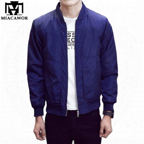 2016 New Spring Men Bomber Jacket Fashion Men Coats Veste Homme Solid Baseball Jacket Casual Jaqueta Masculina Brand Clothing