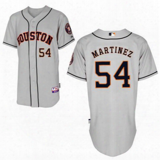 2016 Newest Houston Astros #54 David Martinez Grey Cool Base Baseball Jersey,wholesale Personalized/ Customized Jerseys,wholesale