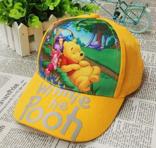 2016 Winnie The Pooh Snapback Children's Hat Baseball Cap Winnie The Pooh Children's Caps Hats Children's Cartoon Baseball Cap Kids Hat Cap