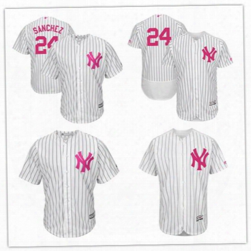 2017 Custom Men Women New York Yankees Gary Sanchez White Jersey Mother's Day Stitched Can Customed Any Name Any Number