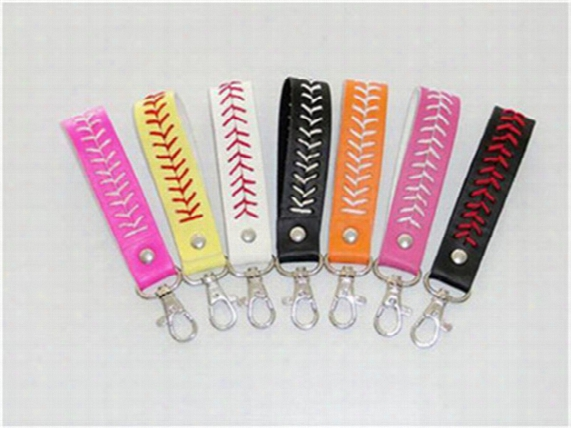 2017 Hot Softball Keychain New Arrival 7colors Baseball Keychain,fastpitch Softball Accessories Baseball Seam Keychains For Gift