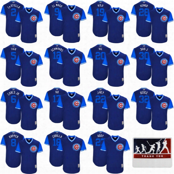 2017 Little League World Series Players Weekend Javier Baez Kyle Schwarber Kris Bryant Ben Zobrist Jason Heyward Russell Chicago Cubs Jersey