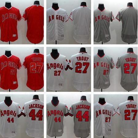 2017 Los Angeles Angels 27 Mike Trout Jersey Flexbase La Angels Reggie Jackson Baseball Jerseys Coll Base Of Anaheim White Pullover Red Grey