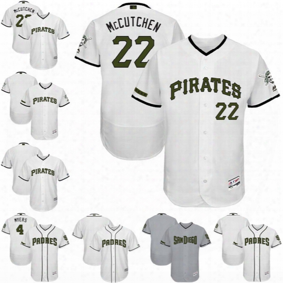 2017 Memorial Day Pittsburgh Pirates San Diego Padres Custom Majestic Baseball Jerseys Stitched Logo And Name Size:s-4xl
