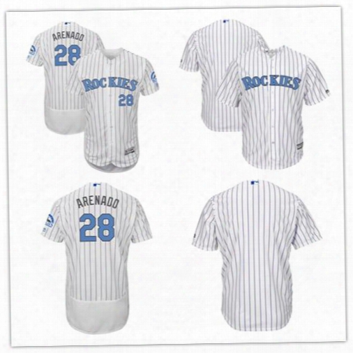 2017 Men Colorado Rockies Nolan Arenado Father's Day Grey Flex Base Cool Base Team Jerseys Can Customed Nay Name Any Number Size S-6xl