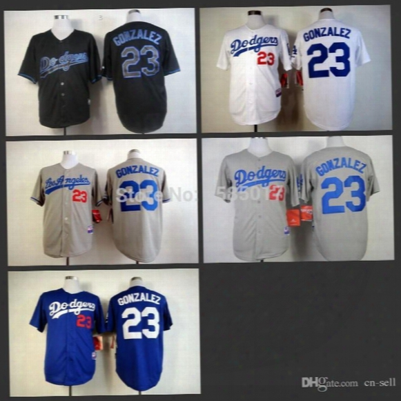 2017 Mens Womens Kids Los Angeles Dodgers 23 Adrian Gonzalez Throwback Black Light Out Cool Base Blue Grey Annd White Flex Baseball Jerseys