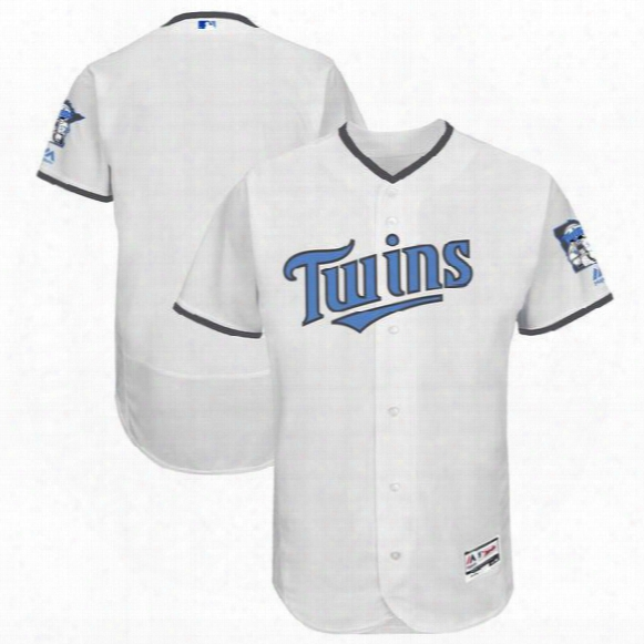 2017 Minnesota Twins Majestic White Father's Day Flex Base Team Jersey Can Customed Any Name Any Number