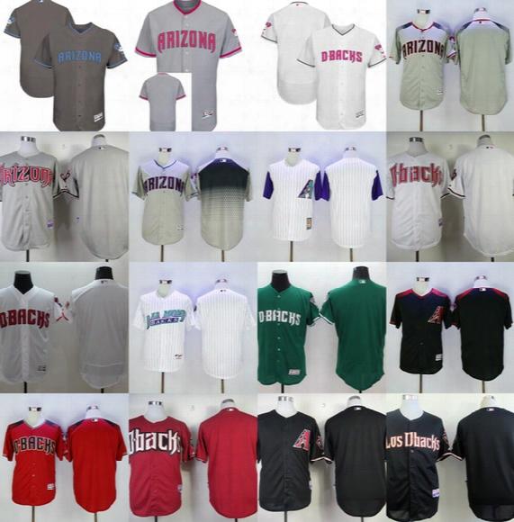 2017 Mother& Father Day Arizona Diamondbacks Blank Cool Flex Base Mens Womens Kids Toddler Baseball Jerseys White Grey Green Black Pink Red