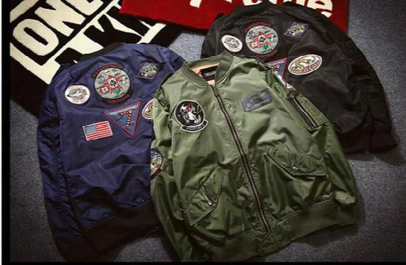 2017 Nasa Air Force Pilot Jacket Couple Ma1 Bomber Jacket Off White Yeezus Embroidery Badge Tide Baseball Clothing Kanye West Spring