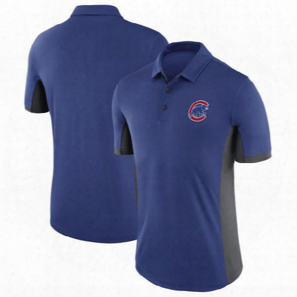 2017 New Mlb Mens Chicago Cubs Royal Blue Authentic Collection Elite Polo T-shirt Mlb Baseball T-shirts
