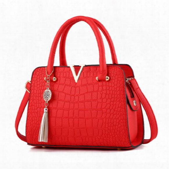 2017 New Shoulder Bag Handbag Fashion Handbag Wholesale Pu Crocodile Handbags Multifunctional Bag
