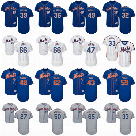 2017 New York Mets Seth Lugo Steven Matz Marcos Molina Hansel Robles Fernando Salas Josh Smoker Flexbase Baseball Jerseys
