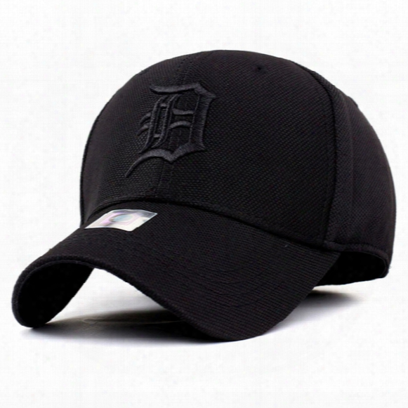 2017 Spandex Elastic Fitted Detroit Tigers Fitted Hats Sunscreen Baseball Cap Men & Women Sport Casquette Bone Aba Reta