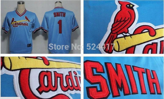 2017 St. Louis Cardinals #1 Ozzie Smith Cooperstown Blank Cool Flex Baseball Jerseys Adult Female Kid Toddler Throwback Brown White Jerseys