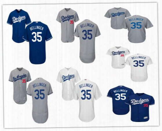 2017 Stitched Men's Los Angeles Dodgers Flex Base Cody Bellinger Jersey Home Away Blue White Gray Cheap 35 Cody Bellinger Baseball Jerseys