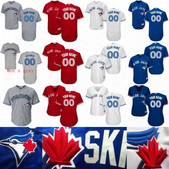 2017 Toronto Blue Jays Jerseys 19 Jose Bautista 20 Josh Donaldson 11 Kevin Pillar 6 Marcus Stroman Personalized Custom Baseball Jerseys