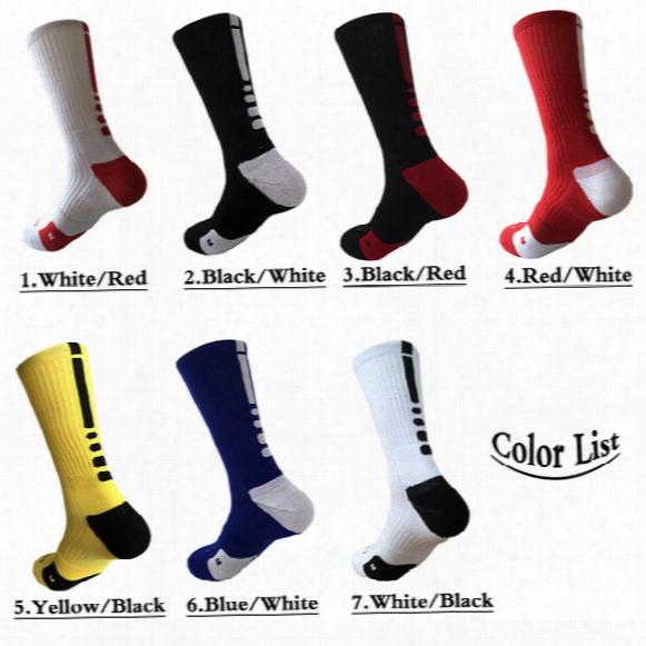 2017 Usa Professional Elite Basketball Socks Fashion Men's Sports Socks Men Polyester Elastic Breathable Baseball Compression Sports Sock