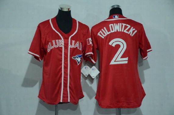 2017 Womens Toronto Blue Jays 2 Tulowitzki 10 Encarnacion 20 Josh Donaldson 19 Bautista 11 Pillar Baseball Jerseys Stitched Flexbase Jerseys