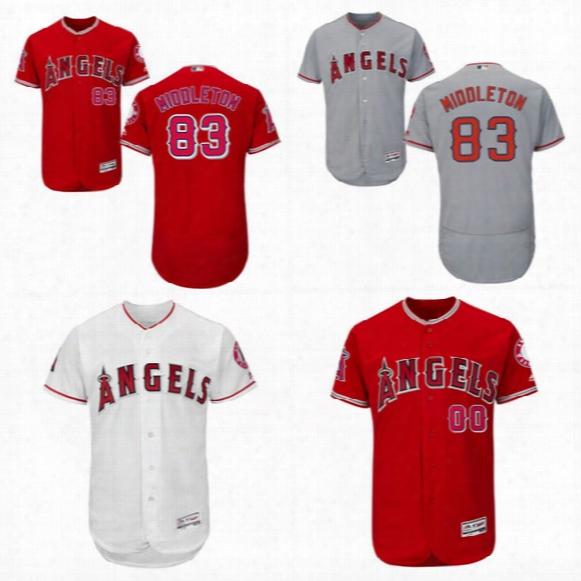 2017los Angeles Angel Jersey 83keynan Middleton White 83keynan Middleton Red 83keynan Middleton Gray Flexbase Onfield Baseball Jerseys