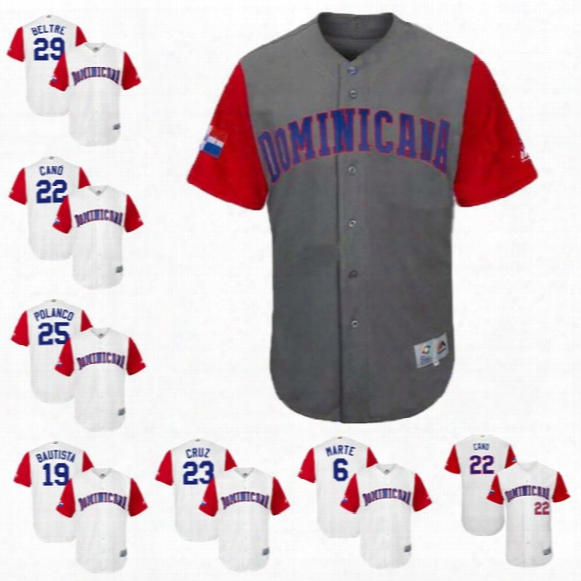 23 Nelson Cruz Womens 2017 World Baseball Classic Dominican Republic Adrian Beltre Gregory Polanco Manny Machado Robinson Cano Jerseys