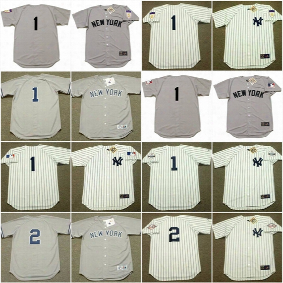 3 Babe Ruth 1929 New York Yankees Men 1 Billy Martin 1 Bobby Murcer 2 Derek Jeter 4 Clou Gehrig Cooperstown Throwback Jersey