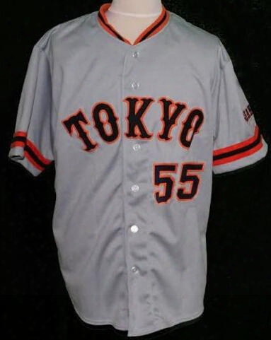 30 Teams- #55 Hideki Matsui Baseball Jersey Yomiuri Giants Tokyo Button-down,100% Embroidery,custom Any Name,number And Sizes