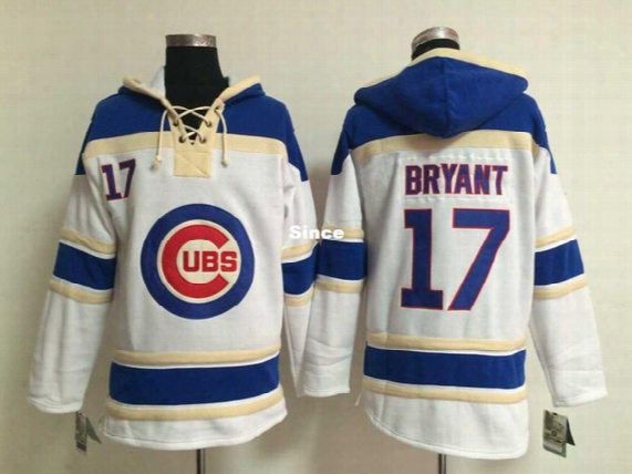 30 Teams- Cheap 2015 New Baseball Hoodie Chicago Cubs #17 Kris Bryant White Cotton Material Men's Baseball Jersey /hoodie 4879