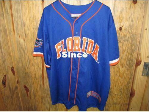 30 Teams- Florida Gators 1 Baseball Jersey College Equipment Colosseum Athletics Baseball Jersey, Men's Stitched Throwback Baseball Jersey