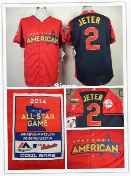 30 Teams- New York #2 Derek Jeter Jersey Size S ~ Xxxl American Union Embroidery Logos Stitched Baseball Shirt Free Shipping