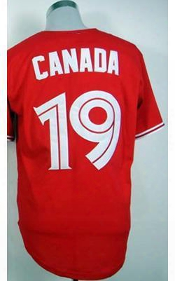 30 Teams-wholesale 2016 Toronto Blue Jays #19 Canada Red Baseball Jerseys,wholesale Jerseys,free Shipping