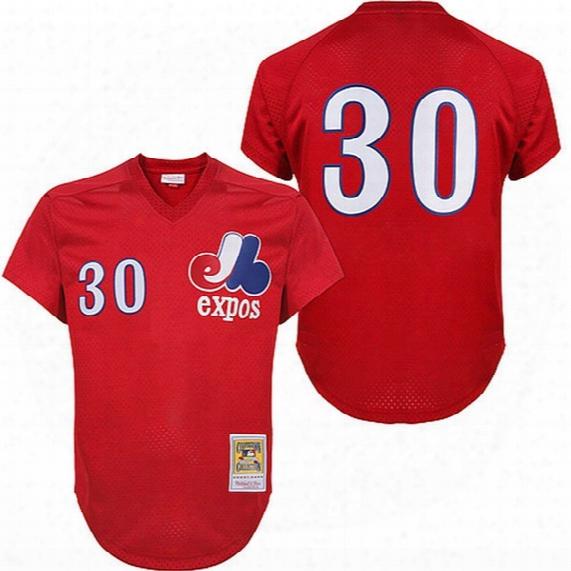 #30 Tim Raines Throwback Montreal Expos Jersey Tim Raines Throwback Baseball Jersey All Stitched Embroidery Baseball Jersey