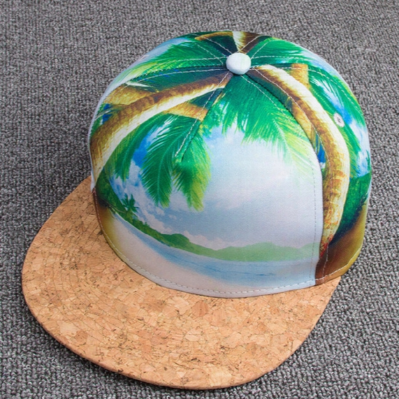 3d Caps Color Stitching Hat Cap And Female Baseball Cap Panel Hats Tropical Cap Tourism Free Shipping 1pcs