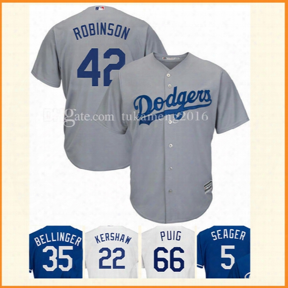 42 Jackie Robinson Baseball Jerseys Los Angeles Dodgers Mlb Embroidery Stitched Bellinger Kershaw Flex Base Cool Base Jersey