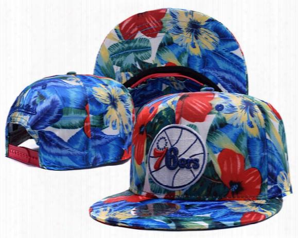 76ers League Basketball Team Flat Snapback Embroidery Baseball Caps Mens Hats Gorras Planas Snapback Hats 76ers Cap